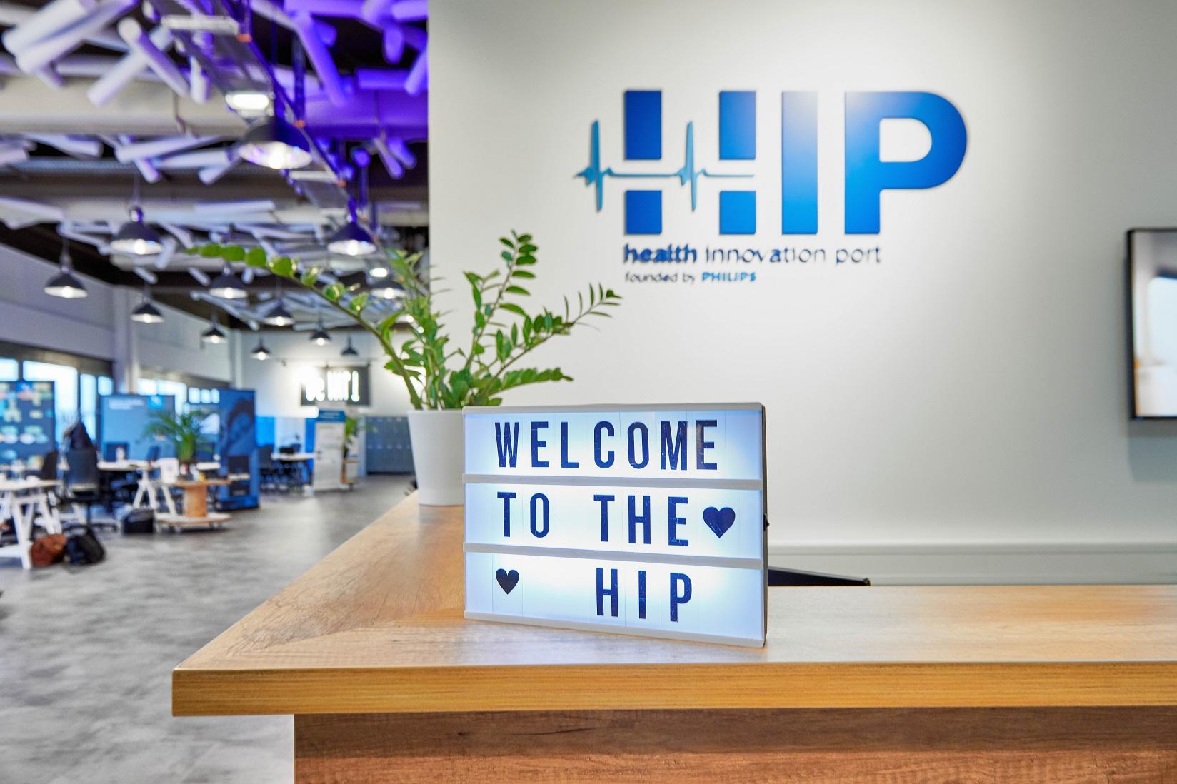 Der Empfang – Das Tor zu unserer Kreativzone für junge health Start-Ups
